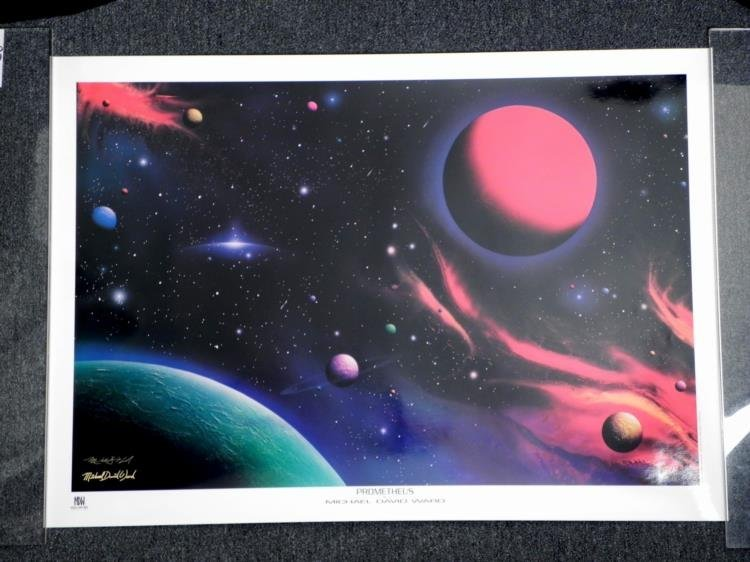Michael David Ward Signed Prometheus Star Trek Print