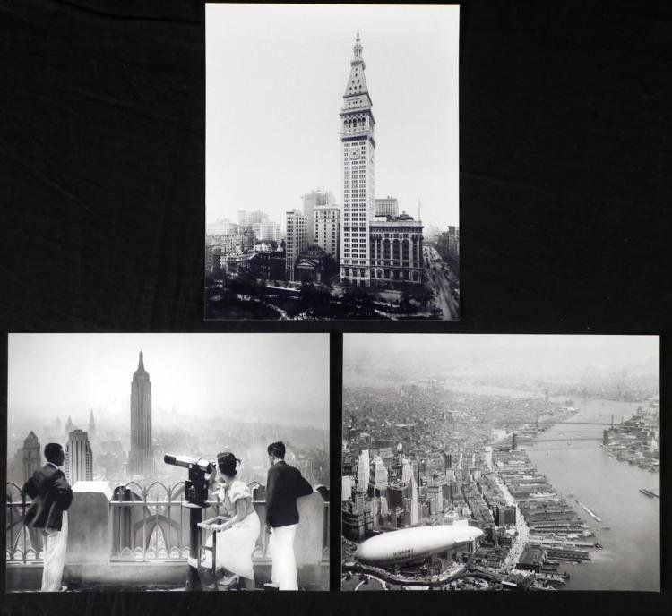 3 New York City Photos - Empire State, Manhattan, Clock