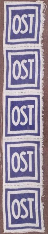 5 ORIG NAZI OST OCCUPIED RUSSIAN EASTERN FRONT PATCHES