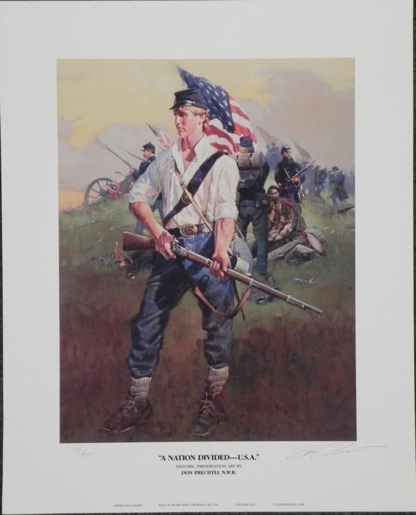 A Nation Divided USA Don Prechtel Civil War Art Print