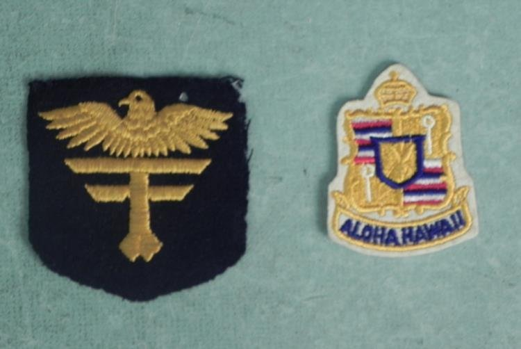 2 VINTAGE PATCHES-HAWAII & MILITARY