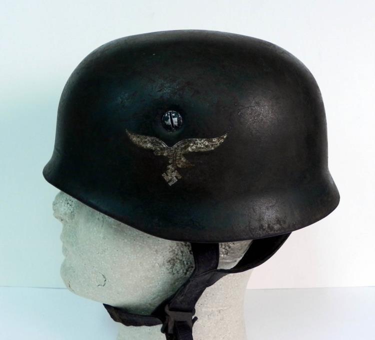 WWII Rare Luftwaffe Paratrooper Helmet.