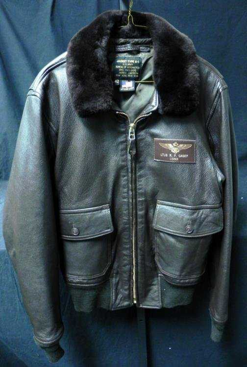 a19f8964cfa GREAT WWII US NAVAL PILOTS G-1 LEATHER FLIGHT JACKET