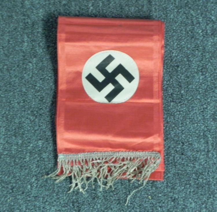 "RARE NAZI NSDAP WEHRMACHT FUNERAL CASKET SASH-66"" LONG"