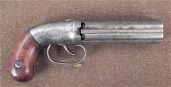 Unique Prototype Pepperbox Revolver Civil War RARE
