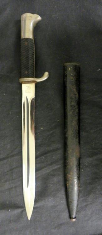NAZI LONG DRESS BAYONET-EICKHORN-MIRROR BLADE-NICE COND