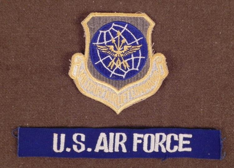 U.S. MILITARY AIRLIFT COMMAND LARGE PATCH & US AIR FRCE
