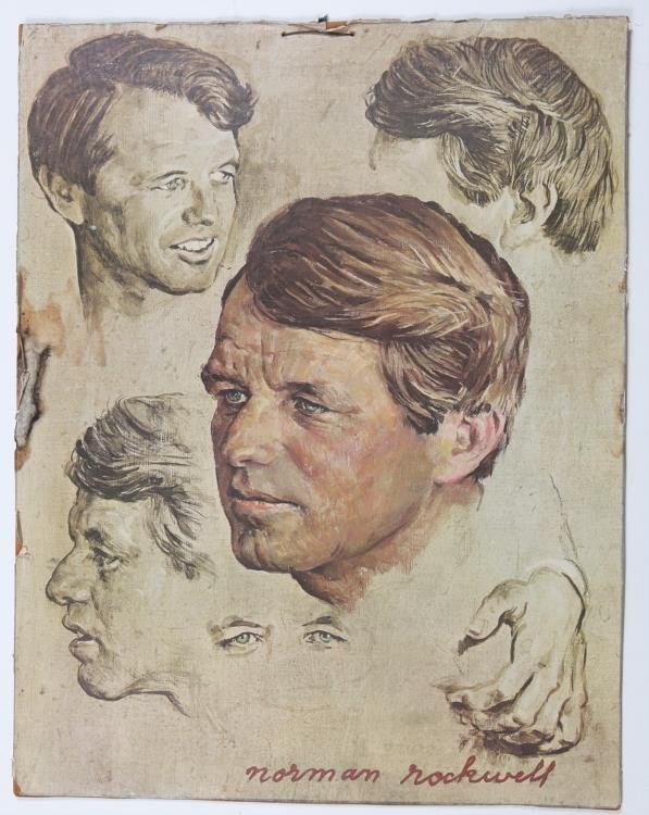 of Robert F Kennedy by Norman Rockwell Poster