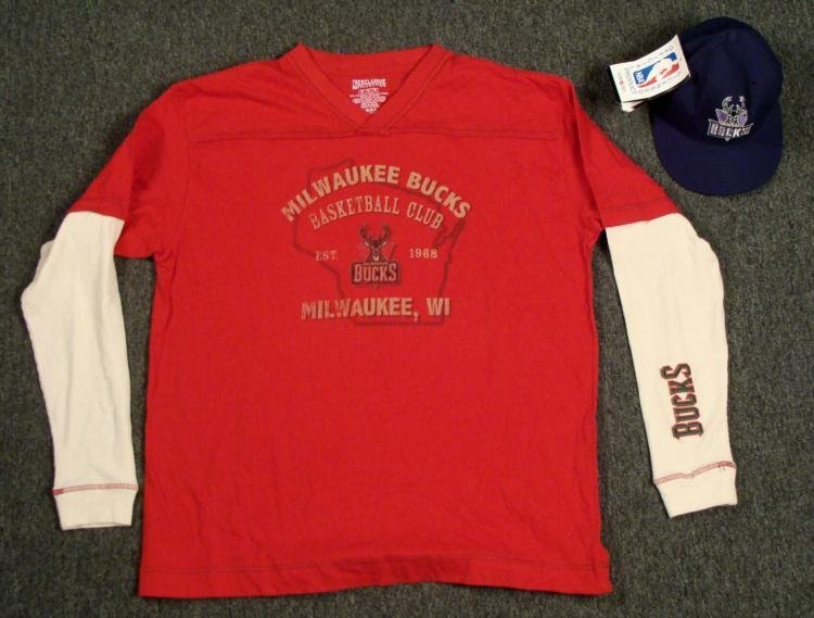 Milwaukee Bucks 5950 New Era Hat Basketball Club Shirt