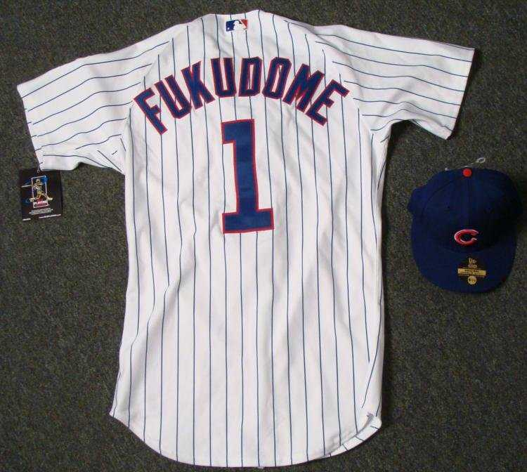 Authentic Chicago Cubs Kosuke Fukudome Jersey and Hat 7cafc38dadf