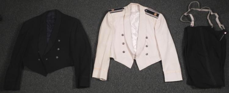2 U.S. AIR FORCE MAJOR VINTAGE DRESS-MESS UNIFORMS -TUX