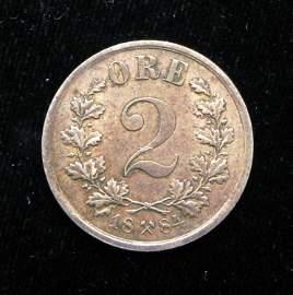 1884 Civil War era - 2 Ore Norway AU-Unc. - Luster