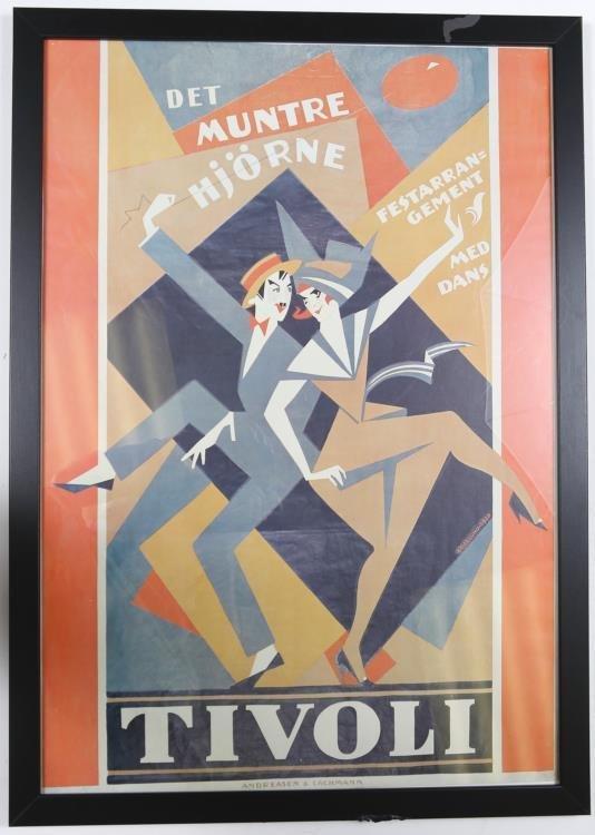 1920's Tivoli Theatrical Poster Andreasen & Lachmann
