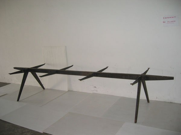 43M: JEAN PROUVE rare structure de table