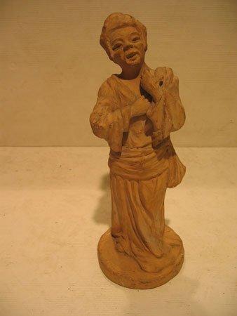 55D: Statuette en terre cuite chinoise