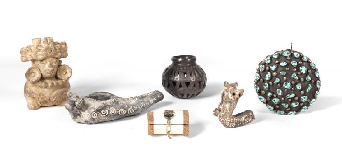 GROUP OF SIX ETHNOGRAPHIC ITEMS