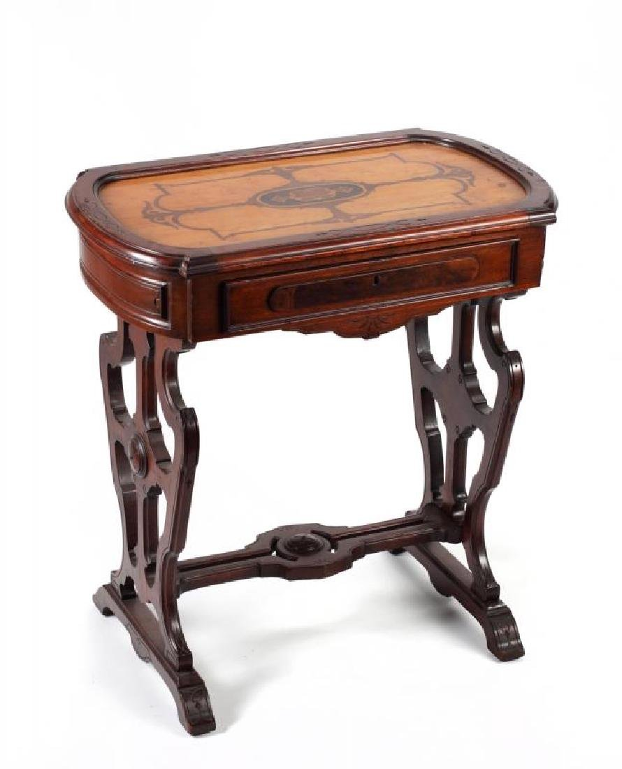 EASTLAKE INLAID OCCASIONAL TABLE
