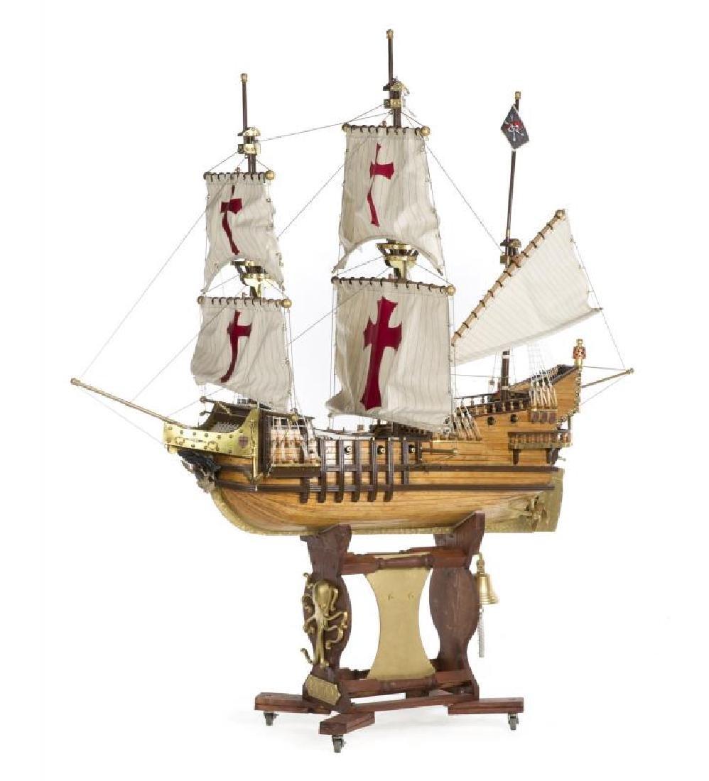SPANISH GALLEON PIRATE SHIP MODEL