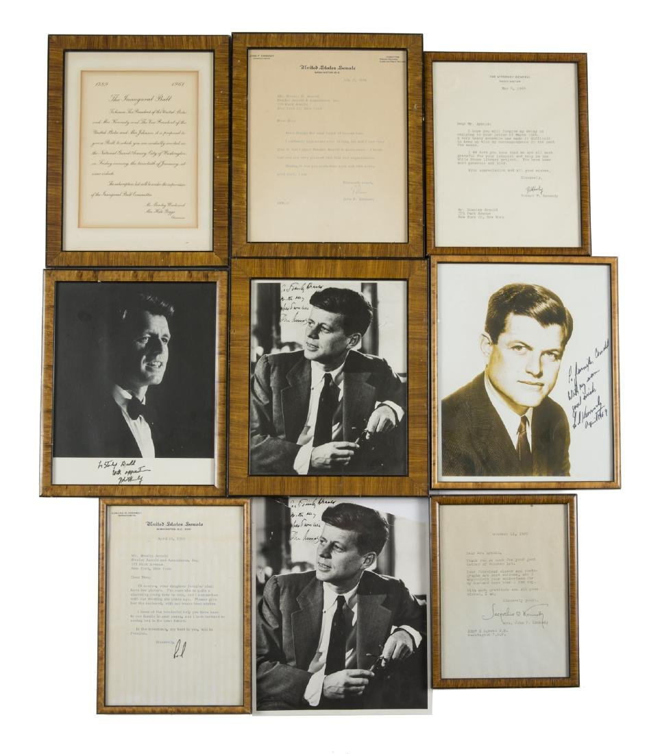 JOHN F. KENNEDY AND FAMILY SIGNED AND RELATED DOCUMENTS