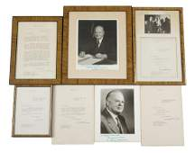 HERBERT HOOVER SIGNED LETTERS AND PHOTOGRAPHS