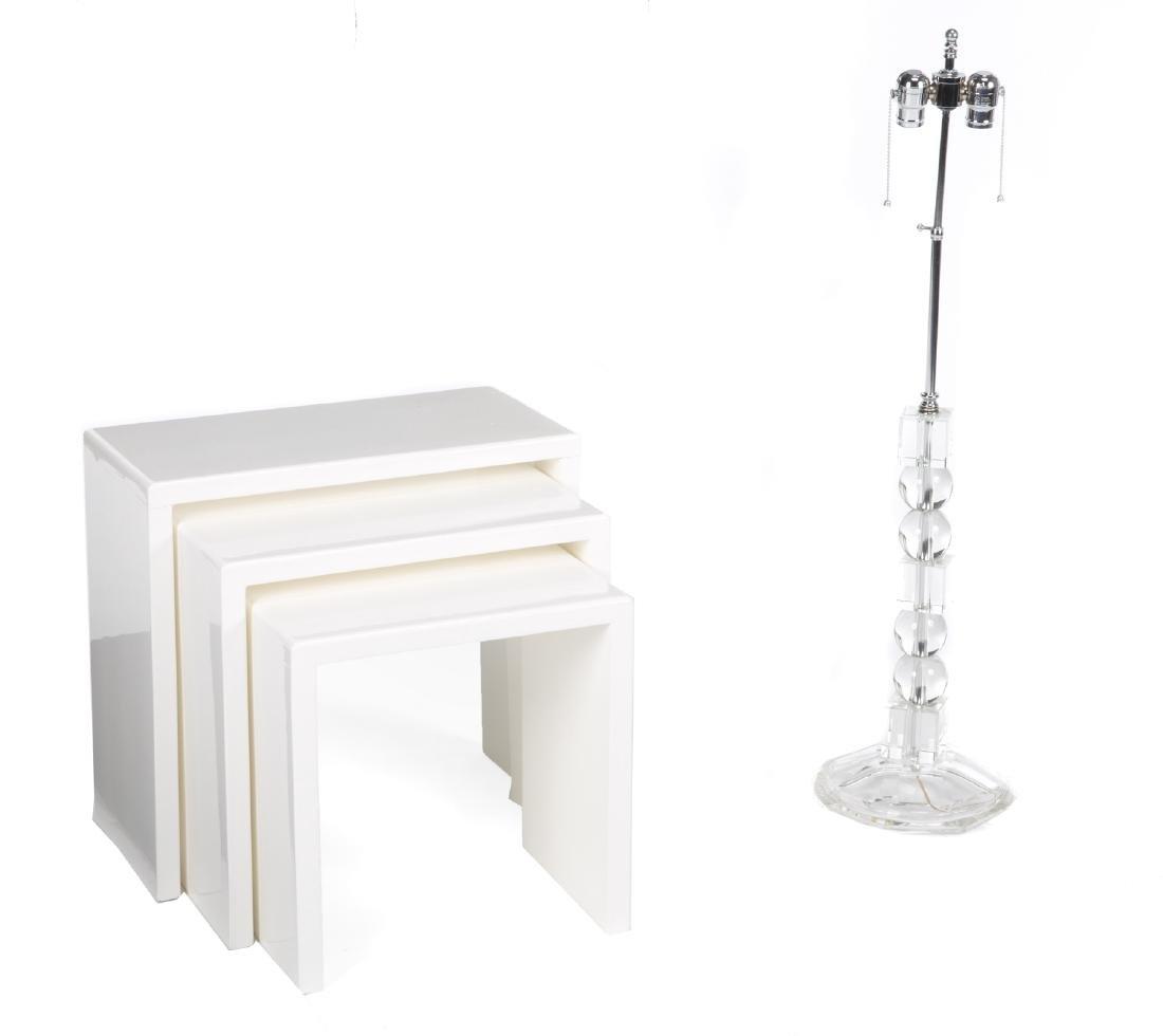 WHITE LAMINATE NESTING TABLES