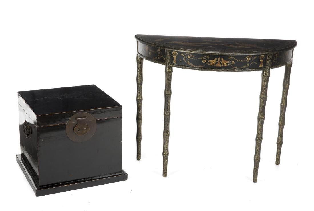 GROUP OF ASIAN STYLE FURNISHINGS
