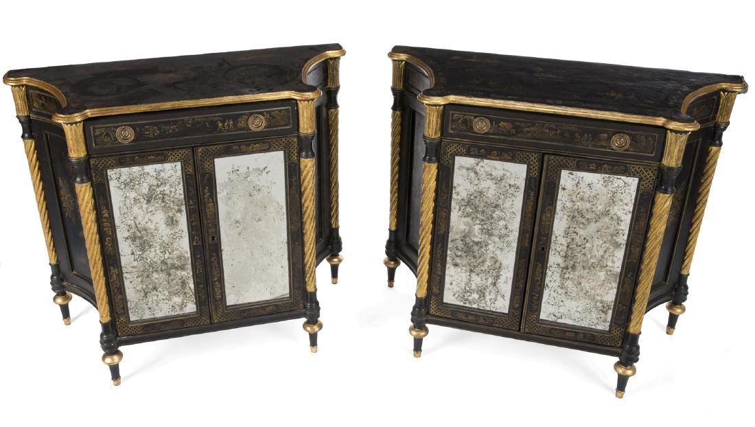 PAIR OF MODERN CHINOISERIE CABINETS