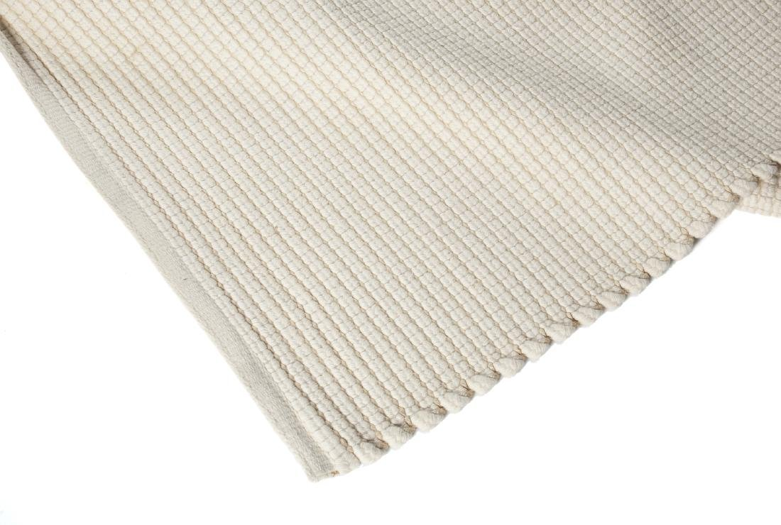 TWO WOVEN COTTON AREA RUGS