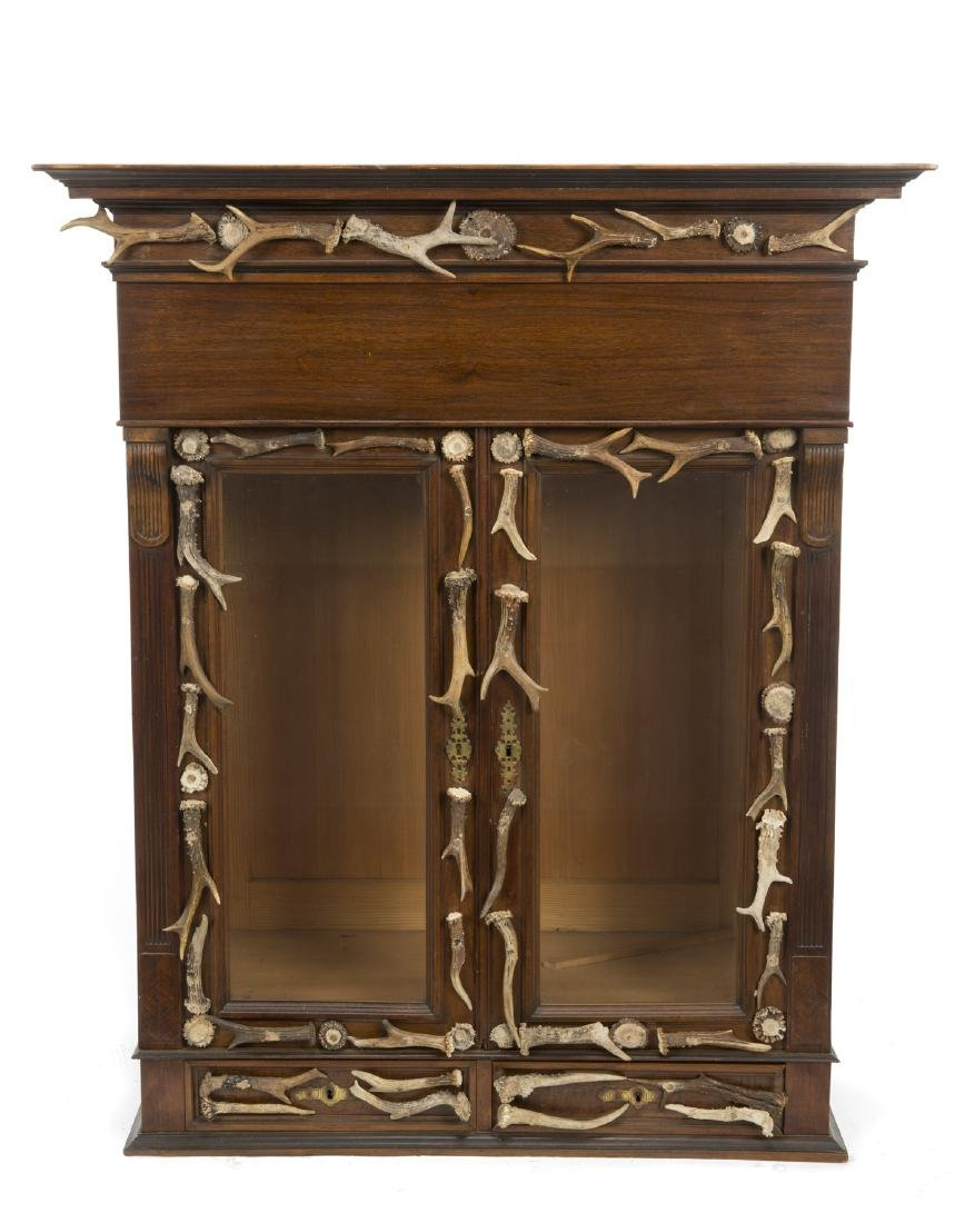 BLACK FOREST ALPINE CURIO CABINET
