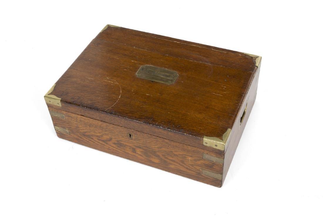 VICTORIAN BRASS BOUND BOX