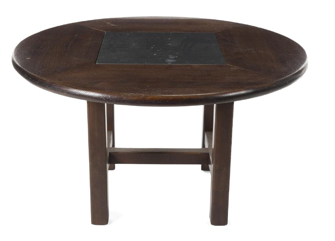 COLONIAL STYLE TABLE AND COMMODE NIGHTSTAND