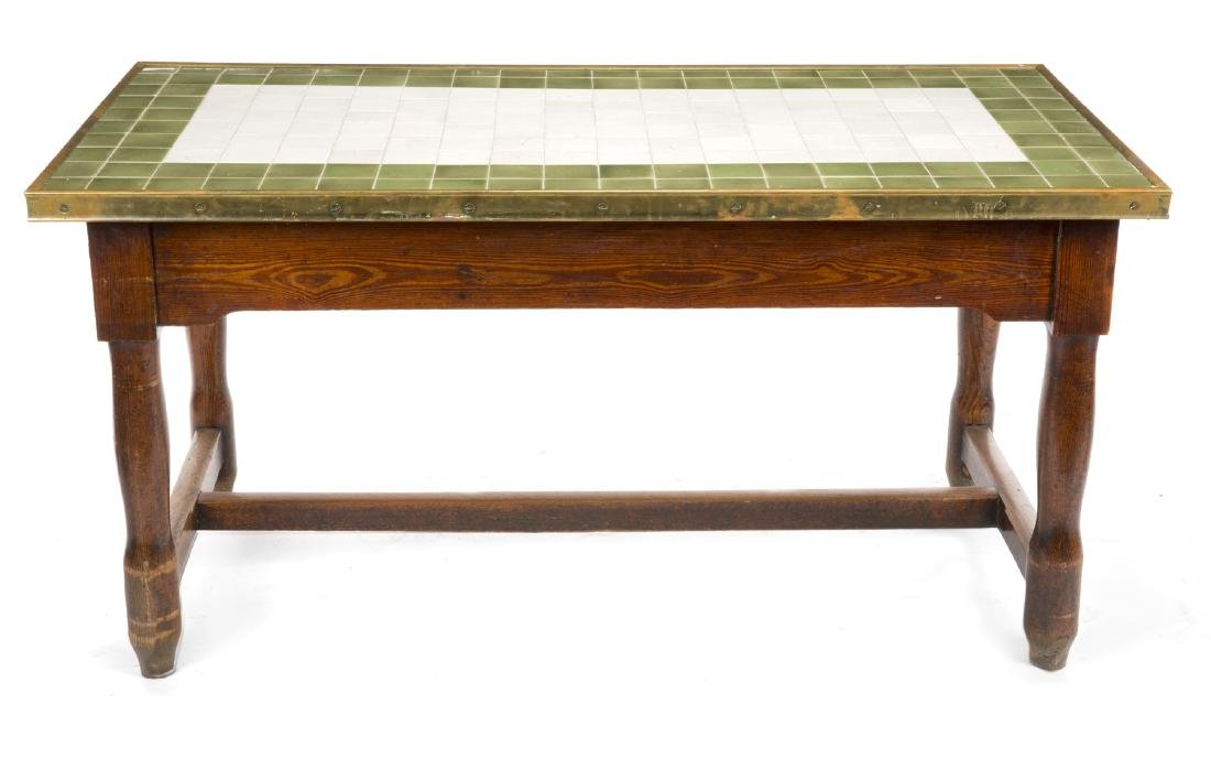 TILE TOP FARM TABLE AND STOOLS