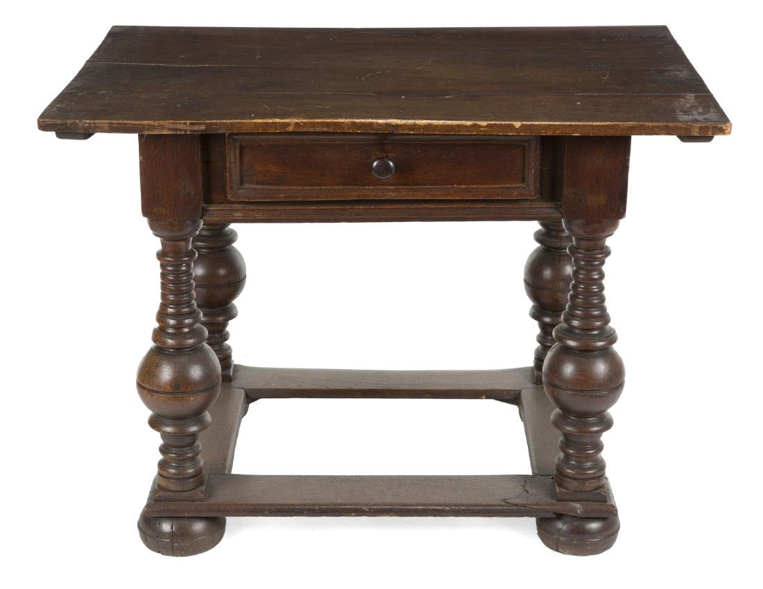 TWO REVIVAL STYLE TABLES - 2