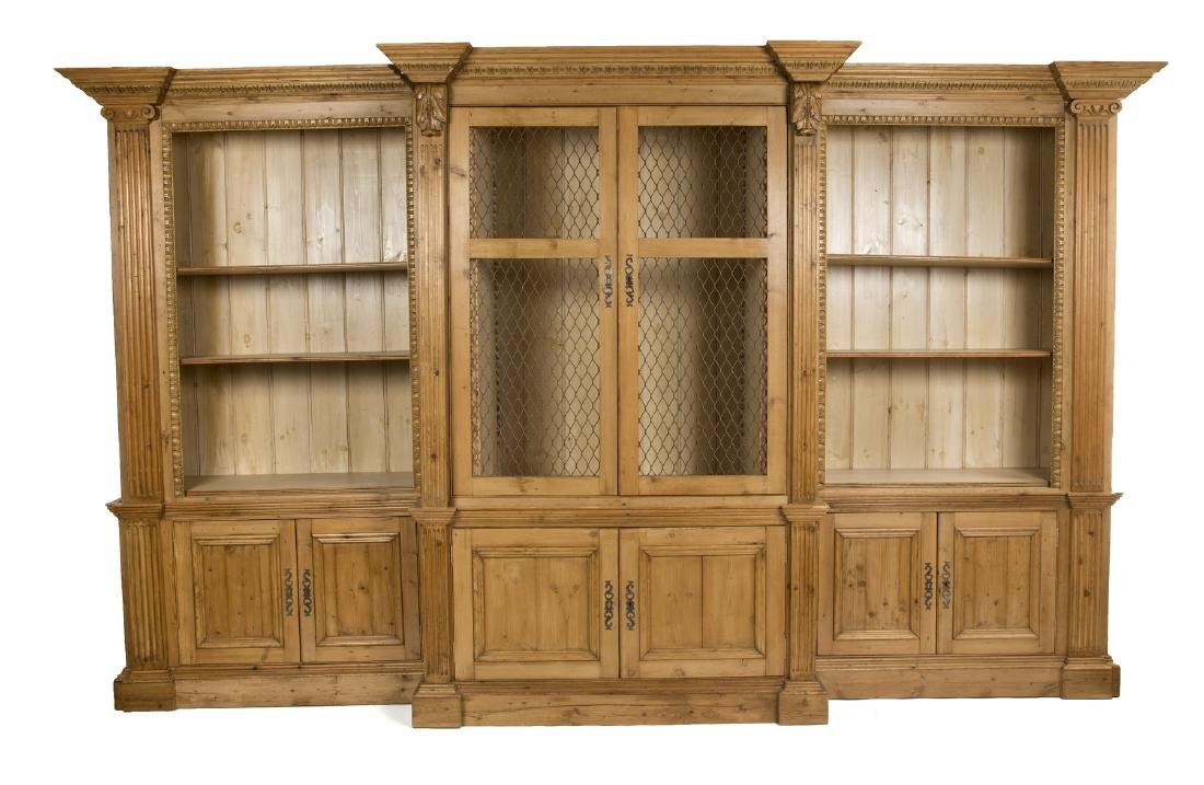 PROVINCIAL STYLE BREAKFRONT CABINET