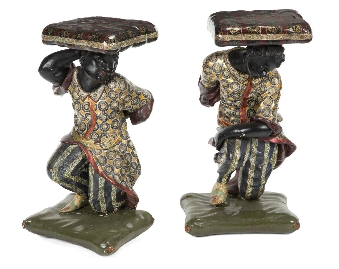 PAIR OF BLACKAMOOR STANDS