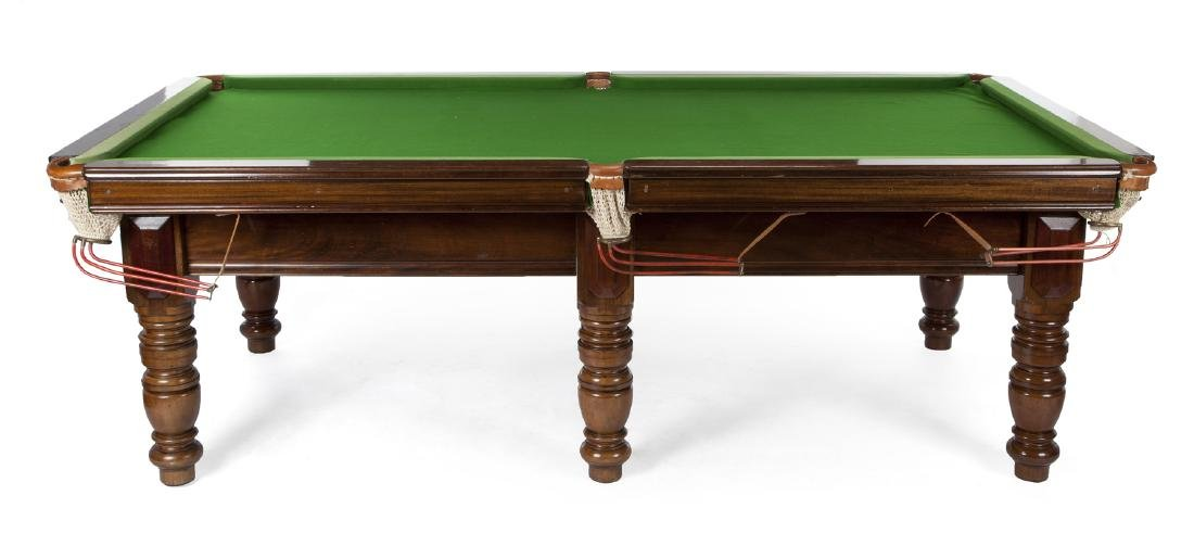IRISH MAHOGANY BILLIARD TABLE