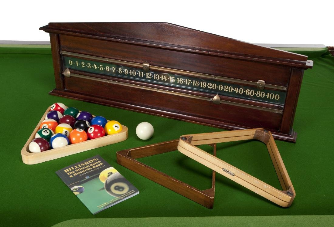 IRISH MAHOGANY BILLIARD TABLE - 2
