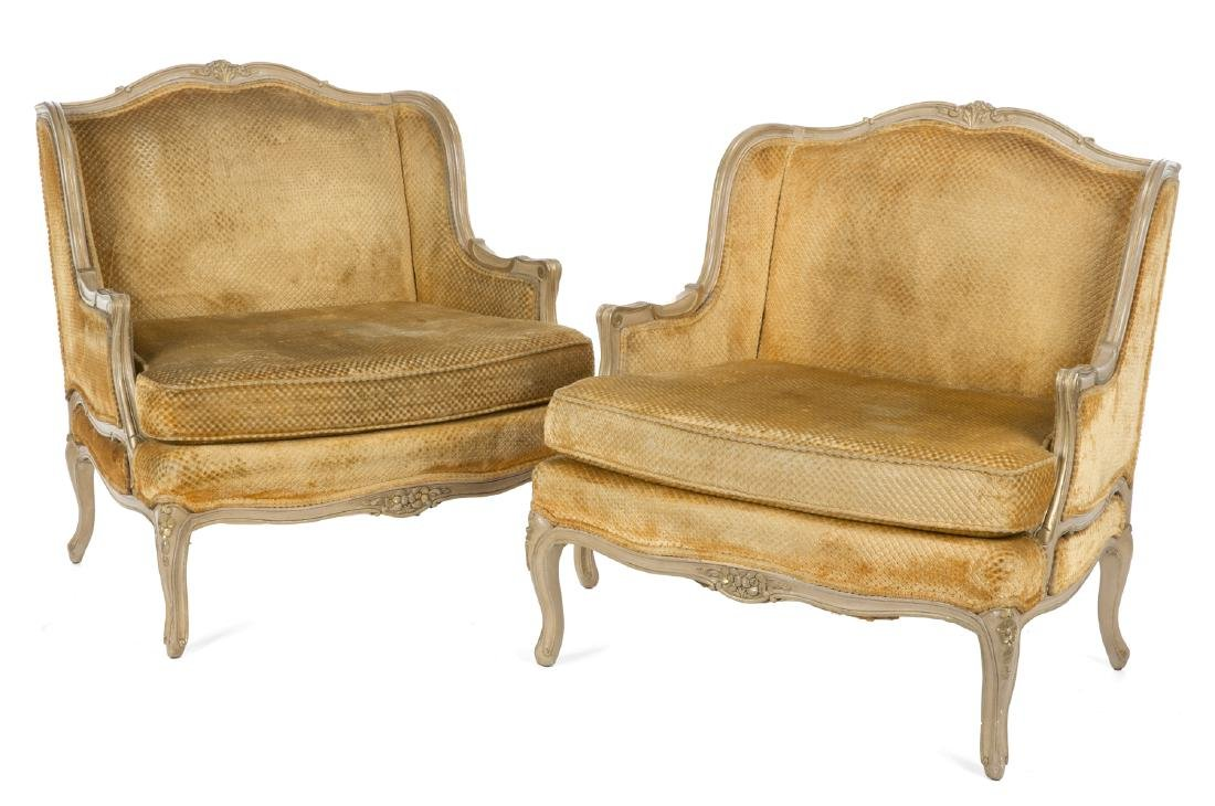PAIR OF ROCOCO STYLE BERGERES