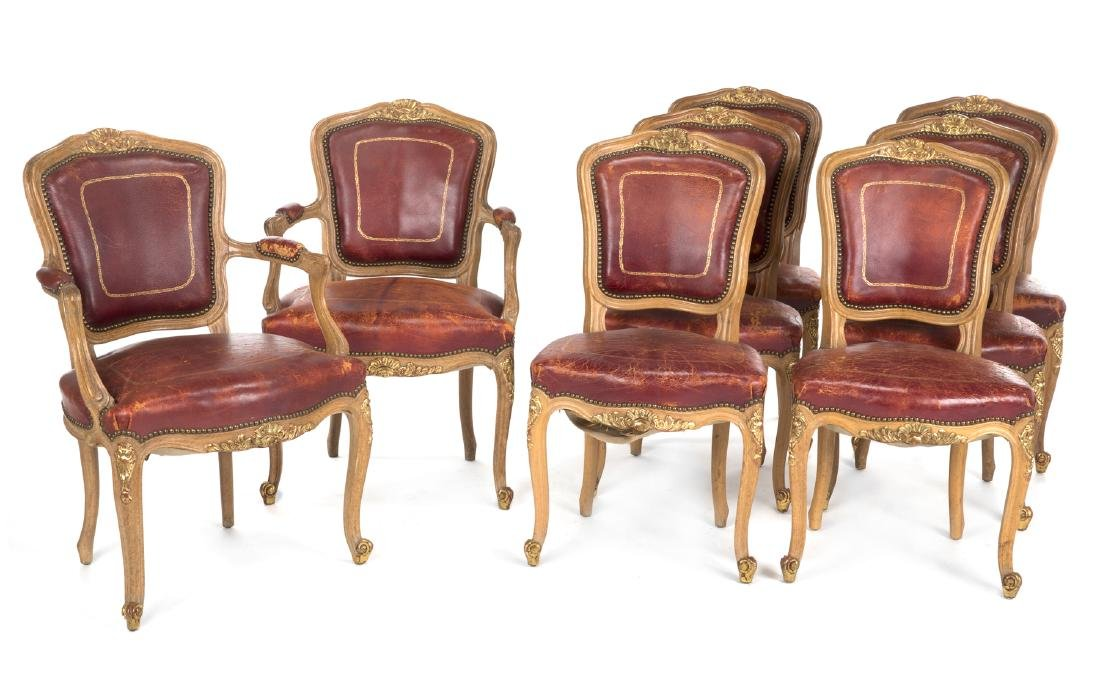 GROUP OF EIGHT JANSEN CHAIRS