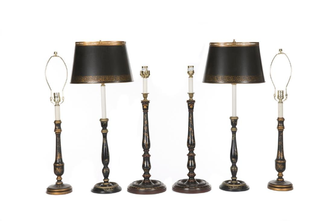 GROUP OF SIX VAUGHAN TABLE LAMPS