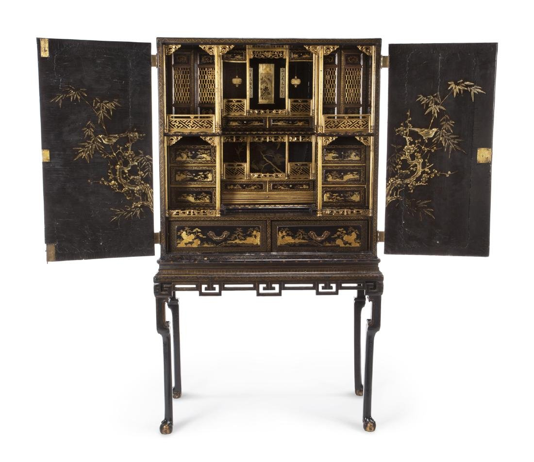 19TH CENTURY CHINESE EXPORT CABINET ON STAND - 2