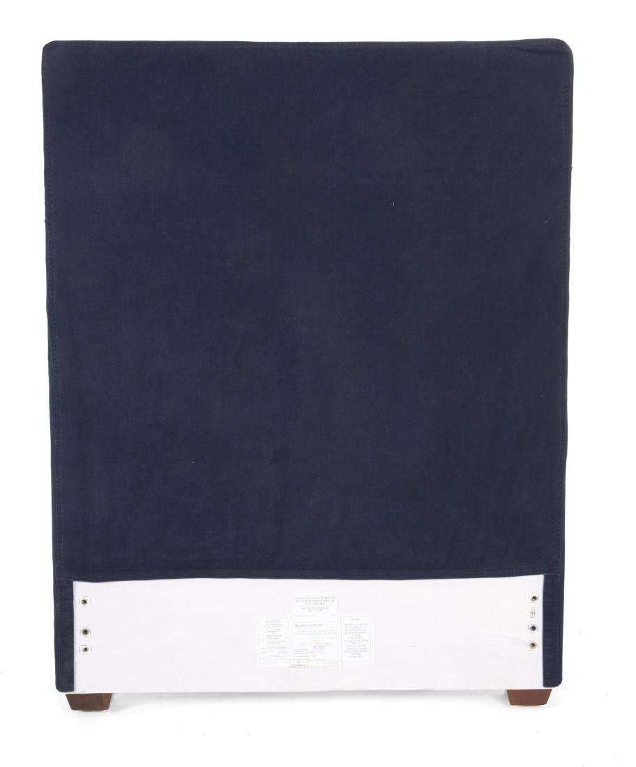 PAIR OF NAVY CANVAS HEADBOARDS