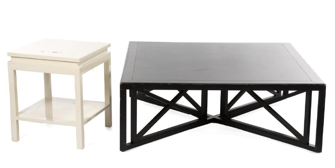 GROUP OF BLACK AND WHITE FURNITURE - 2