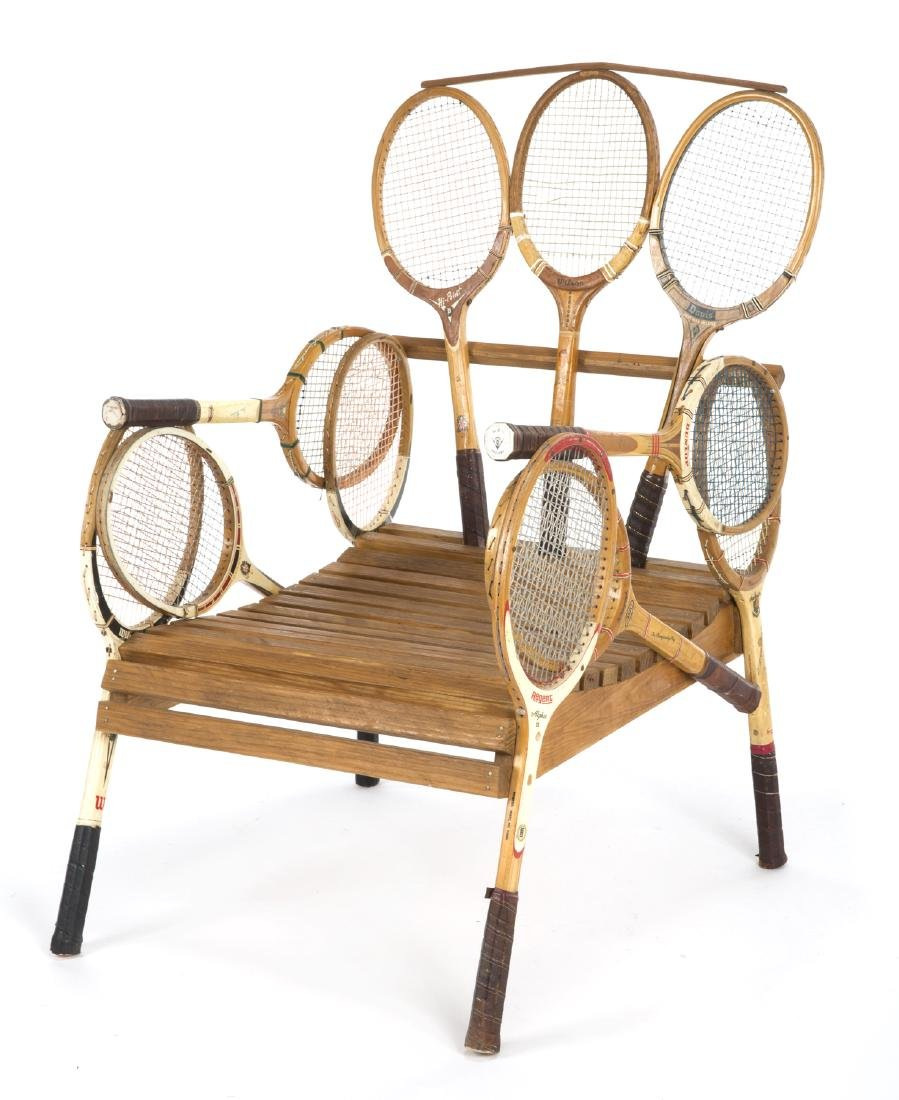 TENNIS RACKET LAWN CHAIR