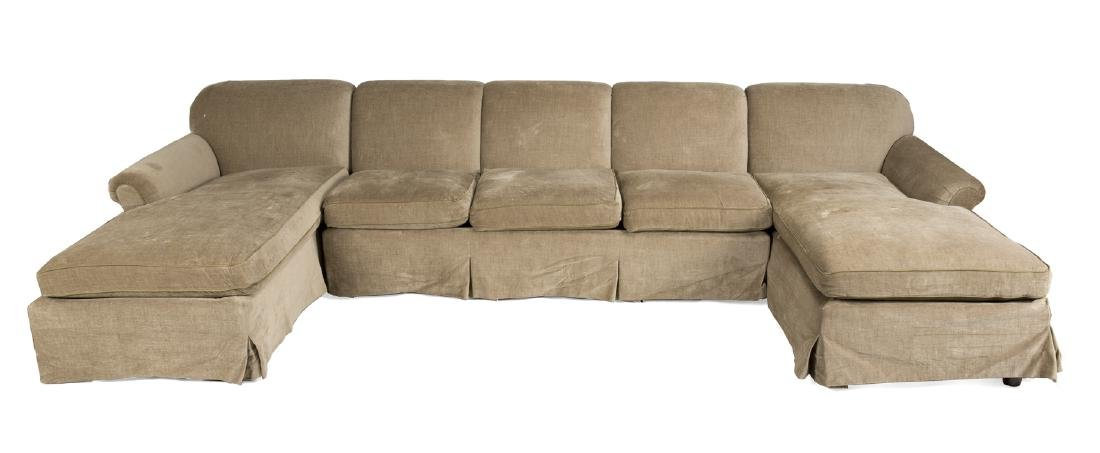 LARGE SOFA WITH END CHAISES