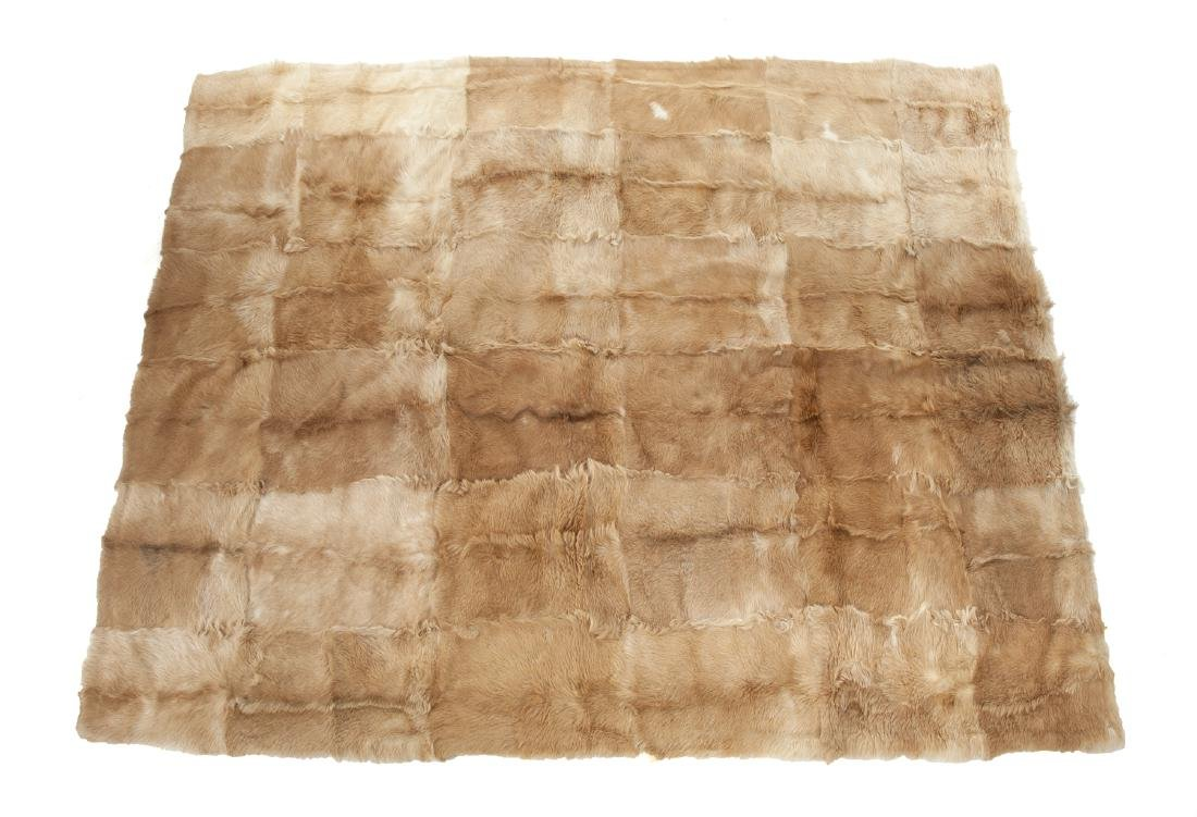 TWO PATCHWORK HIDE AREA RUGS - 2