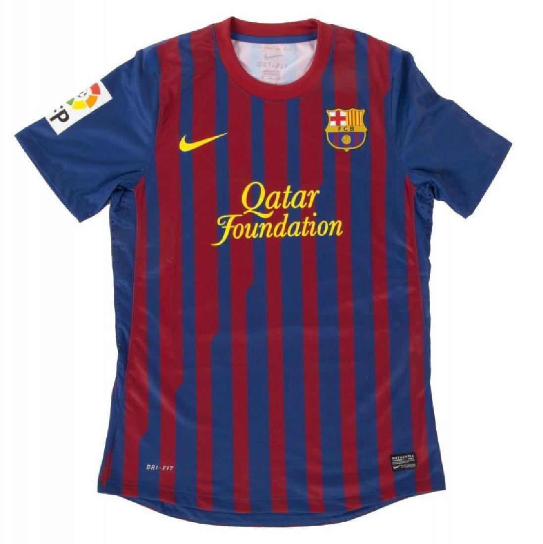 DAVID VILLA FC BARCELONA  2011 MATCH WORN JERSEY