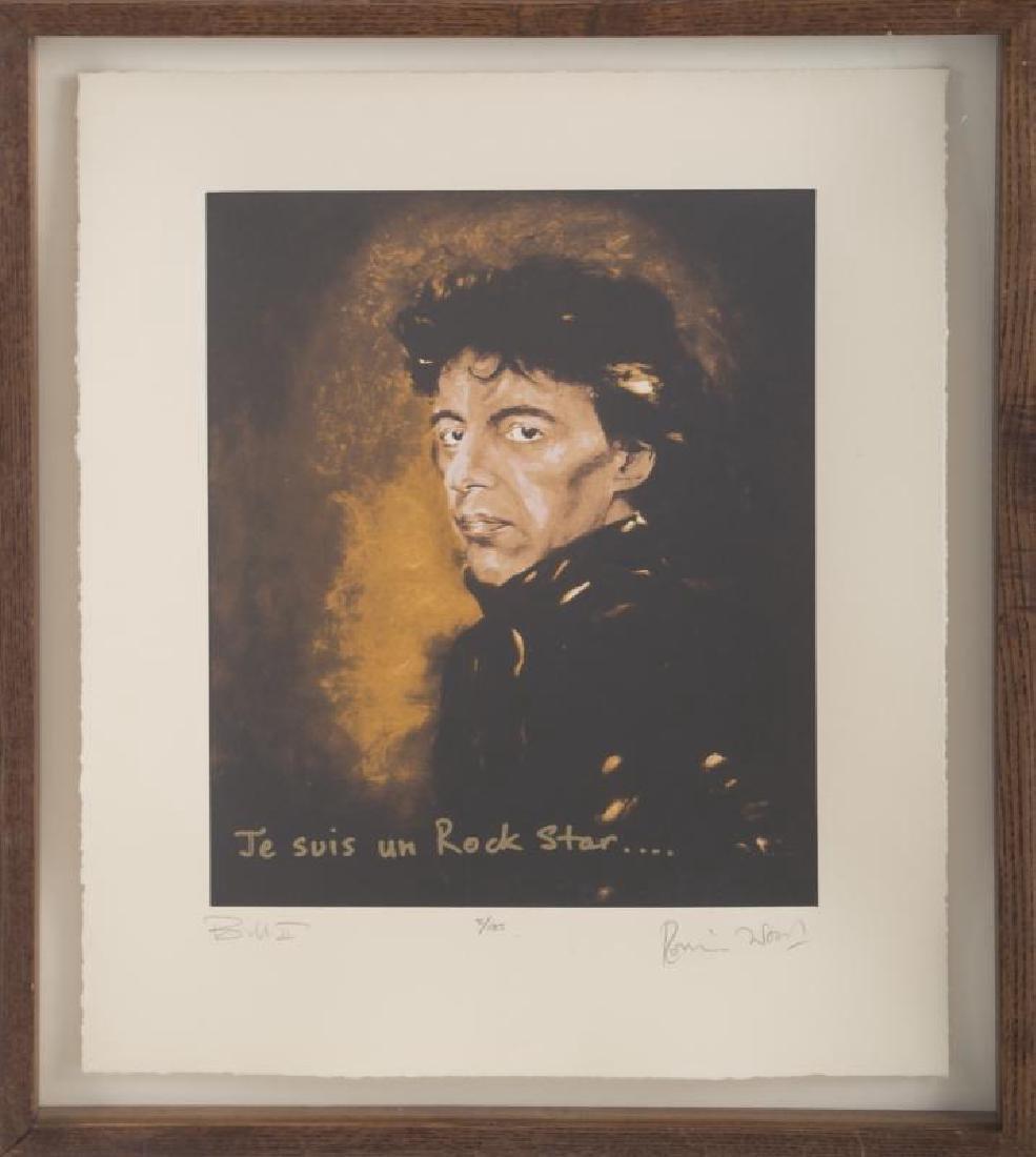 "RONNIE WOOD ARTWORK ""BILL II,"" 1990"