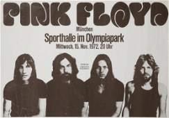 PINK FLOYD 1972 GERMAN CONCERT POSTER