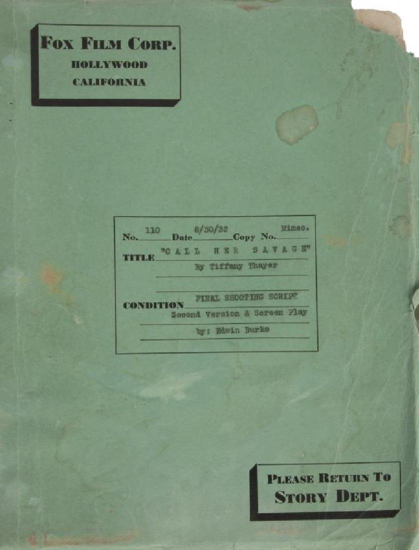 CLARA BOW SCRIPT FOR CALL HER SAVAGE